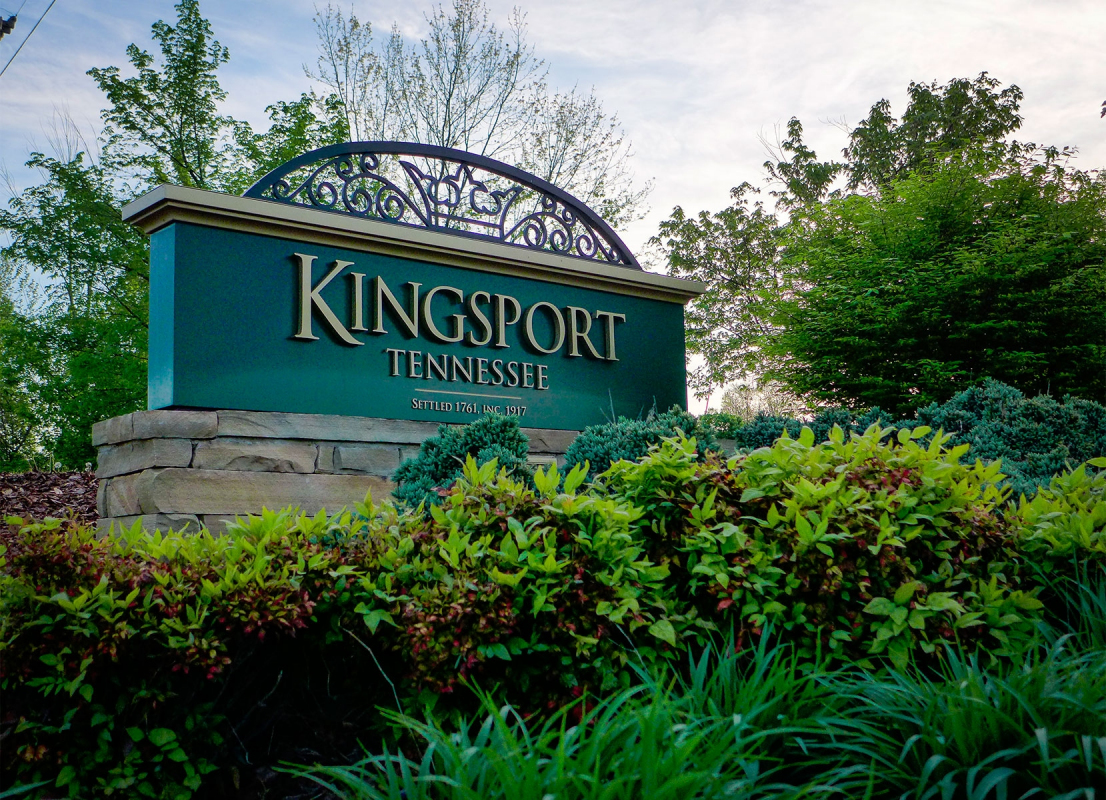 Kingsport Tennessee welcome sign
